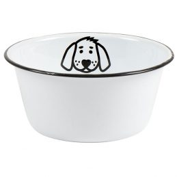 medium-vintage-style-white-enamel-pet-dog-food-water-bowl-by-ib-laursen