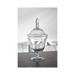 520-handmade-footed-glass-jar-cookie-sweet-bonbon-storage-jar-bowl-with-lid-33-5-cm