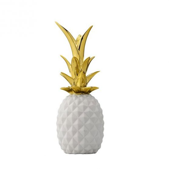 532-Modern-Decorative-Porcelain-Pineapple-White-&-Gold-Centrepiece-by-Bllomingville-1