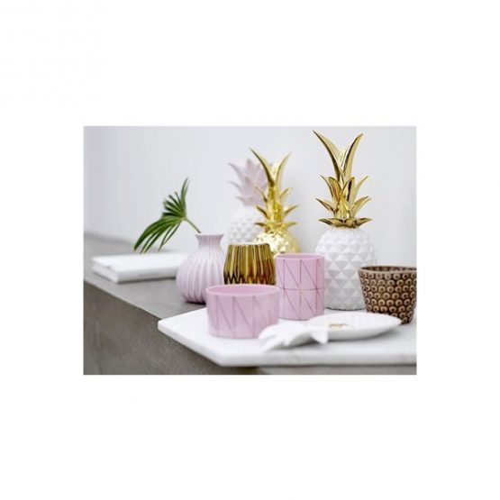 532-Modern-Decorative-Porcelain-Pineapple-White-&-Gold-Centrepiece-by-Bllomingville