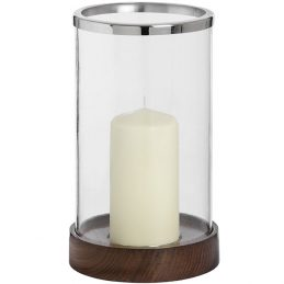 537-Wooden-Based-Hurricane-Lamp-With-Silver-Top-Perfect-for-Votive-Pillar-Tea-Light-29-cm