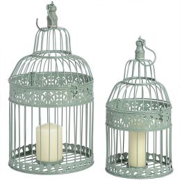 539-Duck-Egg-Blue-Metal-Birdcages-Lantern---set-of-two-for-Votive-Pillar-Tea-Light-Candle