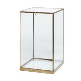 545-Small-Glass-and-Brass-Display-Cover-Dome-with-Lid-Box-42-cm-Danish-Design-by-Hubsch