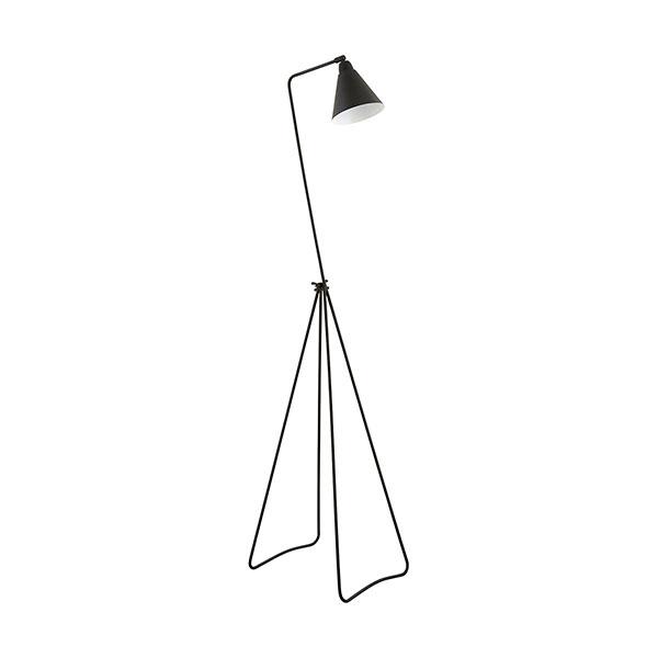 Modern tall iron floor lamp game black danish design by house doctor aloadofball Choice Image