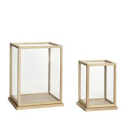 glass-display-oak-cover-dome-with-wooden-base-frame-set-of-2-danish-design