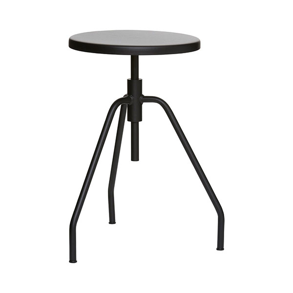 600-Industrial-Rotating-Steel-Scarpa-Black-Stool-Danish-Design-by-House-Doctor