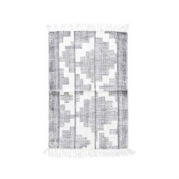 605-Flatweave-Cotton-Geometric-Pattern-Grey-White-Eve-Rug-by-House-Doctor-60×90-cm