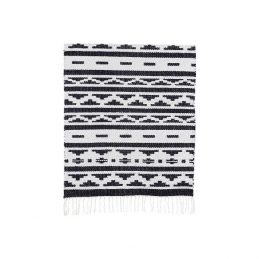 607-Flatweave-Cotton-Geometric-Pattern-Black-White-Inka-Rug-by-House-Doctor-60×90-cm