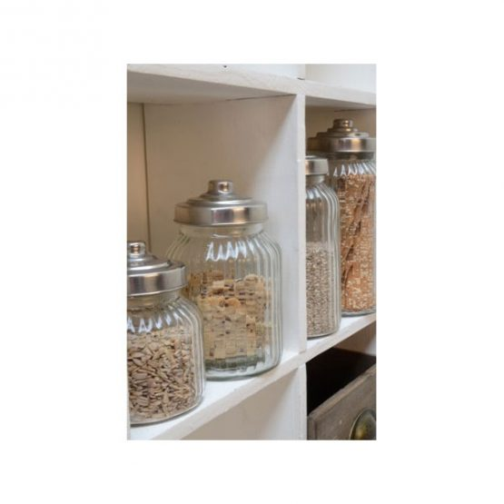 616-Round-Ribbed-Glass-Jar-Wavy-With-Metal-Lid-for-Cookie-Sweet-Kitchen-Storage-Wedding-1