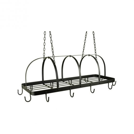 634-Black-12-Hook-Kitchen-Pot-Rack-Holder-Pan-Organizer-Cookware-Storage-Hanger-Ib-Laursen