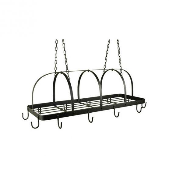 634-Black-12-Hook-Kitchen-Pot-Rack-Holder-Pan-Organizer-Cookware-Storage-Hanger-Ib-Laursen