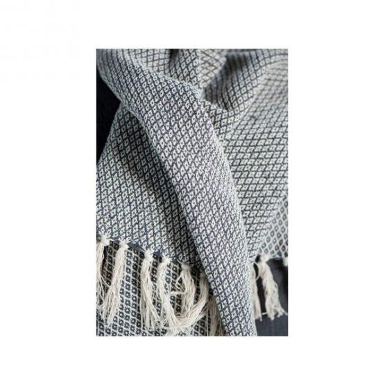 636-100-%-Cotton-Sofa-Bed-Cream-Black-Zigzag-Pattern-Throw-Blanket-by-Ib-Laursen-2