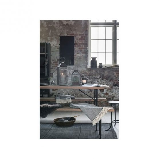 636-100-%-Cotton-Sofa-Bed-Cream-Black-Zigzag-Pattern-Throw-Blanket-by-Ib-Laursen-3