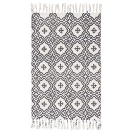 643-Flatweave-Cotton-Grey-Pattern-Rug-by-Ib-Laursen-55×85-cm