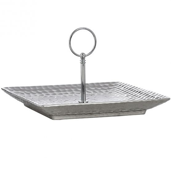 646-Silver-Ceramic-Cake-Stand-Display-Plate-in-Dimple-Effect-2