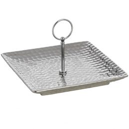 646-Silver-Ceramic-Cake-Stand-Display-Plate-in-Dimple-Effect