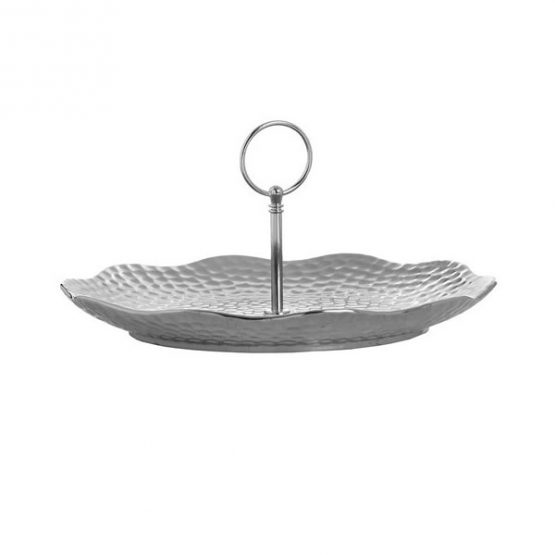 649-Silver-Ceramic-Round-Cake-Stand-Display-Plate-in-Dimple-Effect-1