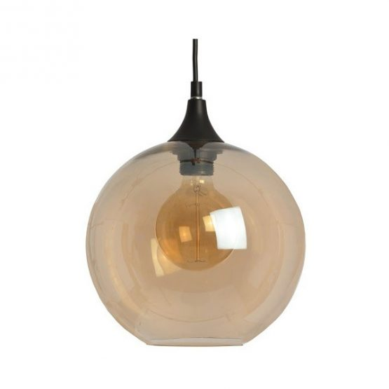 652-Amber-Bulbous-Glass-Screen-Ceiling-Hanging-Pendant-Lamp-by-Hill-Interiors-2