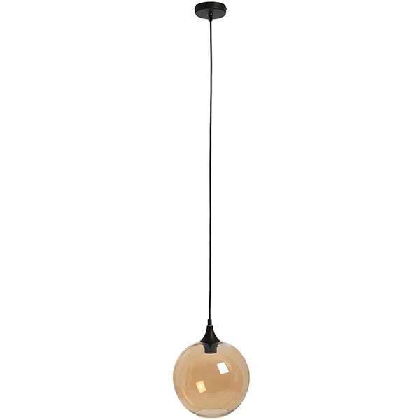 652-Amber-Bulbous-Glass-Screen-Ceiling-Hanging-Pendant-Lamp-by-Hill-Interiors-3
