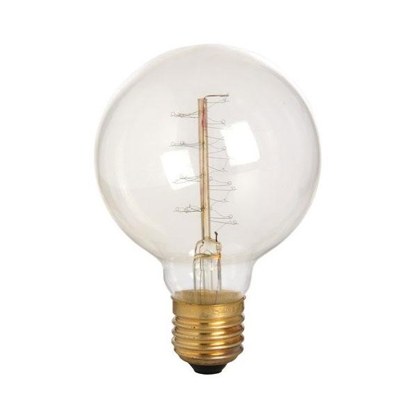 Salt Lamp Bulbs 40w : Edison Fillament Round Globe Bulb 40W