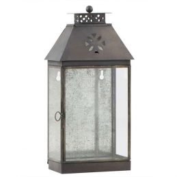 658-Glass-&-Metal-Black-Wall-Lantern-1