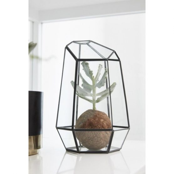 Tall Terrarium Metal and Glass Plants Scandinavian Design Danish Nordic by Hubsch