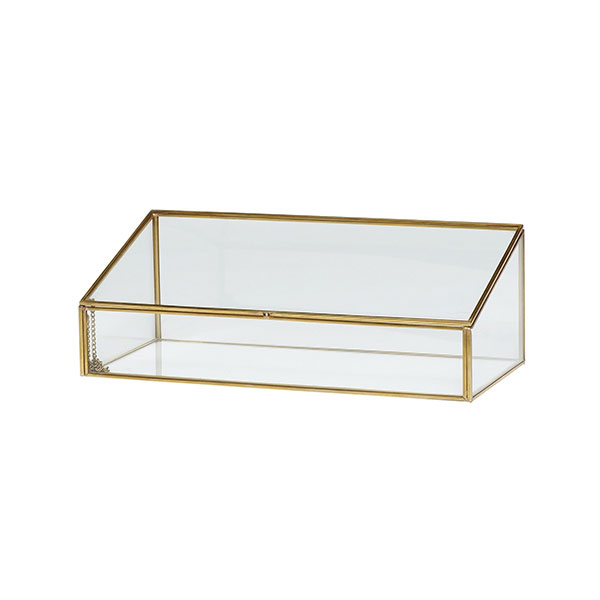 Decorative Brass And Glass Display Jewellery Trifle Box W Lid Interesting Decorator Boxes