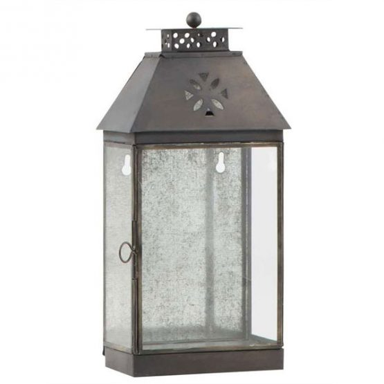 690-Large-Glass-&-Metal-Black-Wall-Lantern-1