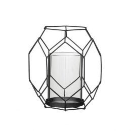 graphic-patterned-metal-black-votive-with-glass-insert-candle-holder