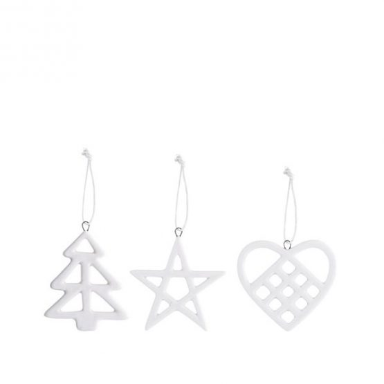 713-Set-of-3-Porcelain-Ornament-Heart-Tree-Star-Christmas-Decoration