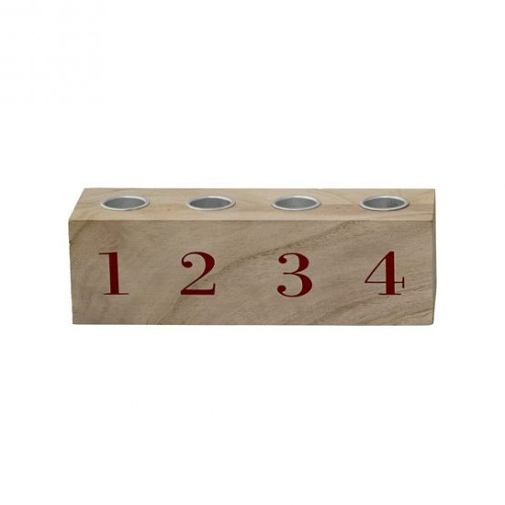 715-Natural-Wood-Advent-Candle-Stick-with-Red-Numbers-by-Bloomingville