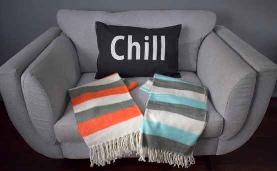 danish-design-orange-grey-white-sofa-bed-throw-blanket-plaid-125-x-150-cm