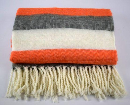 danish-design-orange-grey-white-sofa-bed-throw-blanket-plaid-125-x-150-cm