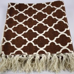 brown-flatweave-cotton-moroccan-pattern-rug-65-135-cm
