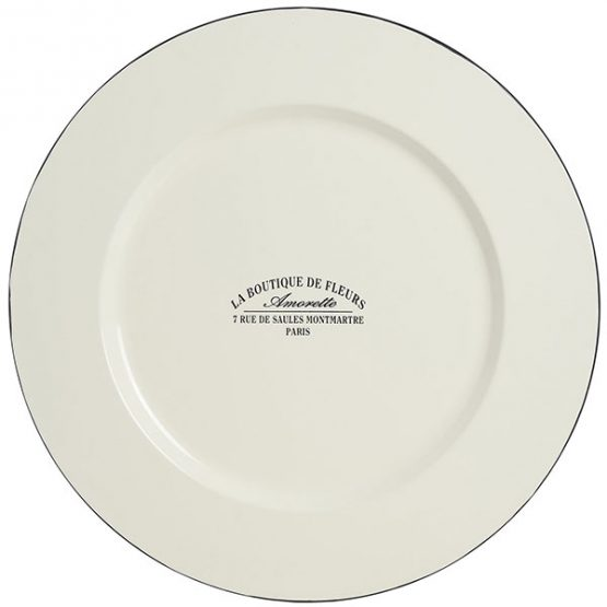 716-Large-French-White-Enamel-Amourelle-La-Boutique-de-Fleurs-Plate-41cm-1
