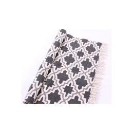 756-White-and-Grey-Flatweave-Cotton-Geometric-Cross-Pattern-Runner-Rug-65-x-135-cm