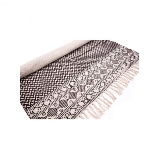 black-white-flatweave-cotton-geometric-pattern-rug-90x150