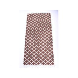 761-Brown-Flatweave-Cotton-Moroccan-Pattern-Rug-65-x-135-cm