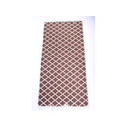 brown-flatweave-cotton-moroccan-pattern-rug-65-135