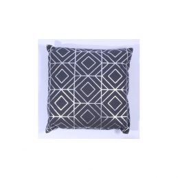 768-Dark-Grey-with-Silver-Printed-Pattern-Cotton-Large-Danish-Design-Cushion-Cover-40-x-40-cm