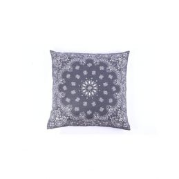 772-Dark-Grey-Danish-Design-Cushion-Cover-with-White-Printed-Pattern-50-x-50-cm