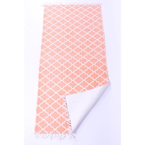 light-coral-flatweave-cotton-moroccan-pattern-rug-65-x-135-cm