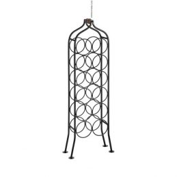 795-12-Bottle-Wrought-Iron-Standing-Black-Wine-Rack-Holder-with-Handle-by-Hill-Interiors