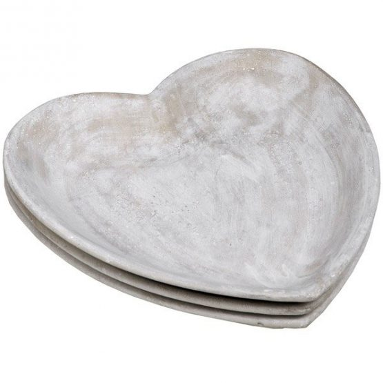 796-Cream-Stoneware-Heart-Display-Dish-for-Outdoor-&-Indoor-23.5-cm-by-Hill-Interiors