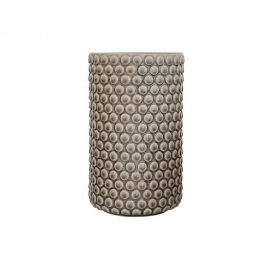 decorative-stoneware-bubble-structure-grey-flower-vase-by-bloomingville