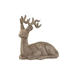 bloomingville-modern-decorative-sparkle-gold-deer-ornament-14-cm