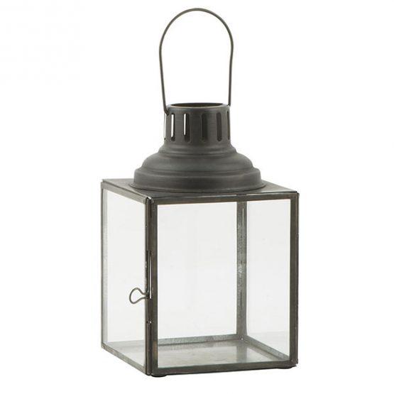 810-Glass-&-Metal-Black-Hanging-Lantern