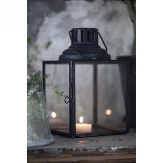 810-Glass-&-Metal-Black-Hanging-Lantern2