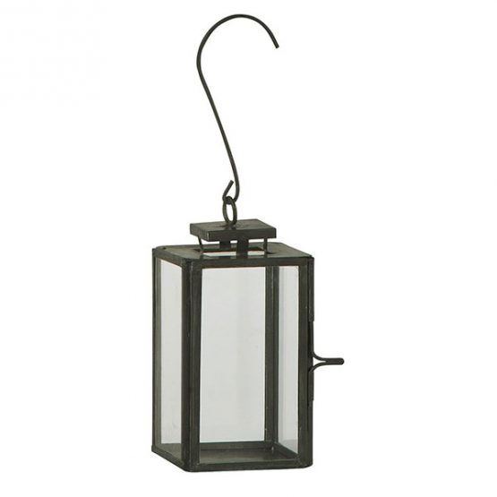 814-Mini-Glass-&-Metal-Black-Hanging-Lantern1