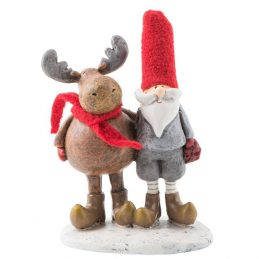 817-Christmas-Modern-Decorative-Reindeer-and-Santa-Claus-arm-in-arm-by-Ib-Laursen-11-cm